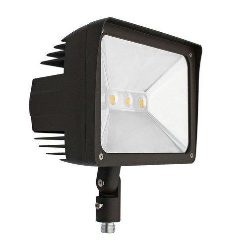 Morris 71346 LED ECO-Floodlight with 1/2'' Knuckle, 5000 K, 50W, 4357 lm, 120-277V, Bronze