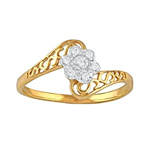 Giantti Daily Wear Women's 14KT Diamond Ring - IGL Certified ( 0.044 Ct, I1 Clarity, GH-Colour)