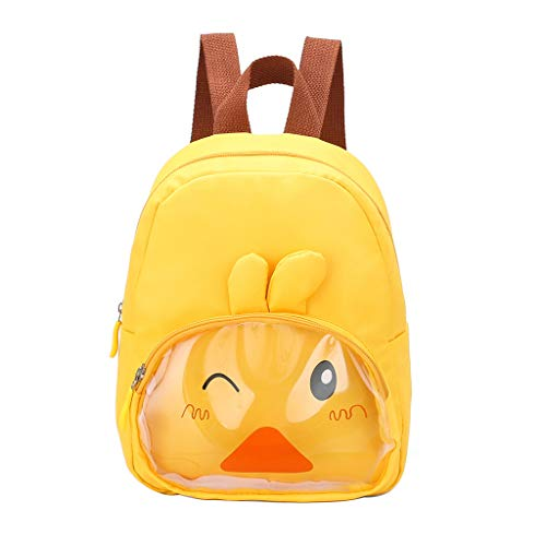 Kindergarten School Bag, Londony♪✦ Cute Kids Toddler Backpack Plush Toy Animal Cartoon Children Bag for Baby Girls Boy Yellow ()