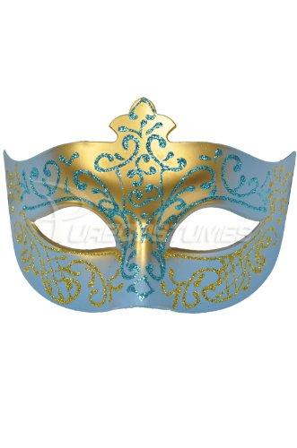 [Pure Seasons Royal Countess Venetian Mask (Light Blue)-Standard] (Womens Masquerade Costume Countess)
