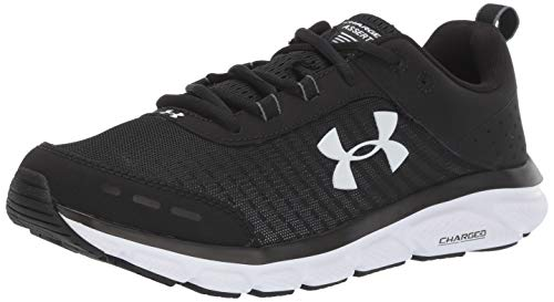 Under Armour Men's Charged Assert 8 Running Shoe, Black (001)/White, 10