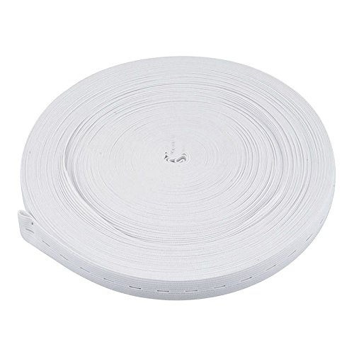 10M Button Hole Knit Elastic Band Sewing Craft 20Mm White Y2T4