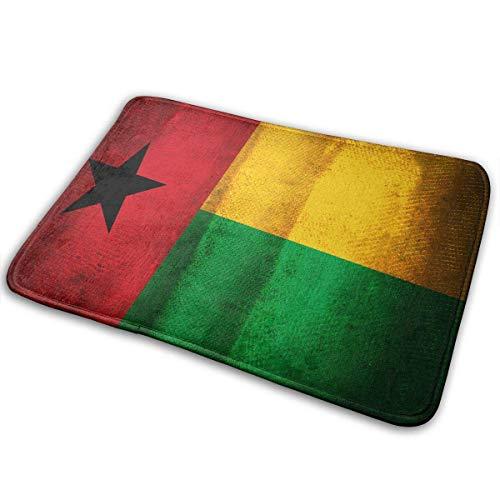 Guinea Bissau Flag Home Door Mat Super Absorbent Non Slip Front Floor Mat,Soft Coral Memory Foam Carpet Bathroom Rubber Entrance Rugs Indoor Outdoor