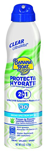 Banana Boat Protect and Hydrate Ultra Mist Clear Spray SPF 30, 6 Ounce