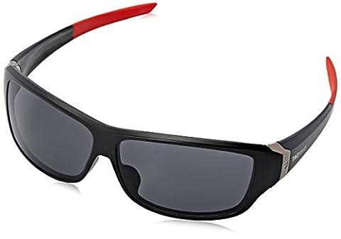 Tag Heuer Racer2 9225 101 Rectangular Sunglasses, Black & Red, 65 mm (Tag Heuer Women Black)