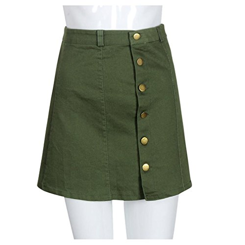 Double Button Front Skirt - 8