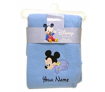 couverture bébé disney personnalisée personnalisé Disney baby Mickey Mouse Bleu Couverture polaire  couverture bébé disney personnalisée
