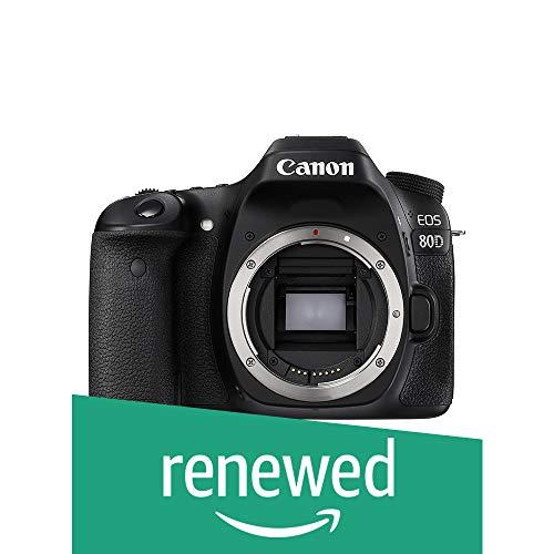 Canon Eos 80d Digital Slr Camera Body Black Renewed