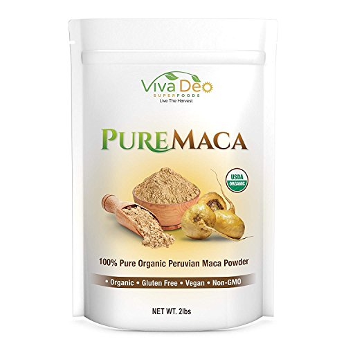 Pure Maca 2lb Value Size | 100% Raw Organic Pure Maca Powder | Non-GMO | by Viva Deo Superfoods by Viva Deo Superfoods