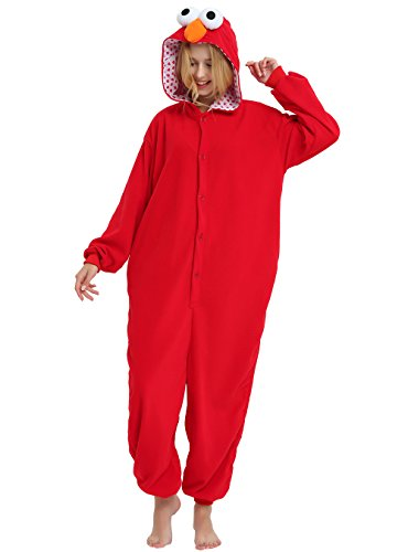 Elmo Onesie Costume for Adults and Teenagers, Halloween Animal Kigurumi Pajama(Small) for $<!--$26.99-->