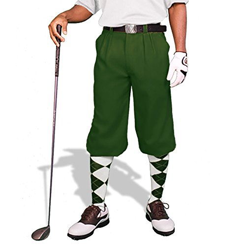 Green Golf Knickers: Mens 'Par 3' -