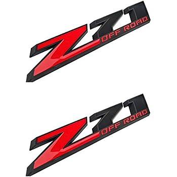 NEW Z71 OFF ROAD Emblem Badge For Silverado Sierra Suburban Red//Black 2PCS