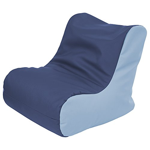 ECR4Kids SoftZone Youth Bean Bag Soft Seat, Navy and Powder Blue