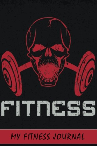 my fitness journal red fitness gym logo 6 x 9 50 daily fitness