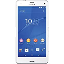 Sony Xperia Z3 Compact D5833 16 GB Memory International Version Factory Unlocked, White, Retail Packaging