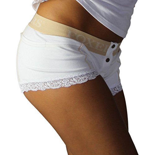 White Boxers Briefs | Nude Flat Waist Band -