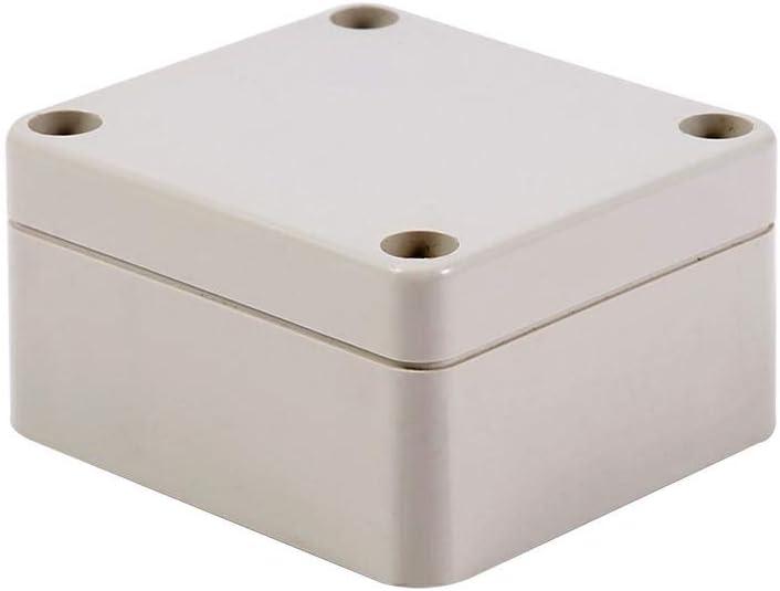 Recinto al aire libre de las cajas de conexiones eléctricas plásticas del ABS a prueba de polvo impermeable IP66(65 * 60 * 35mm), Gris claro: Amazon.es: Bricolaje y herramientas