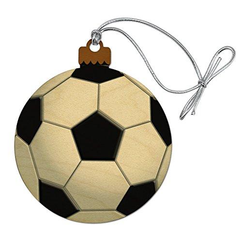 GRAPHICS & MORE Soccer Ball Football Wood Christmas Tree Holiday Ornament
