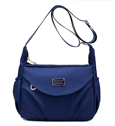 Lightweight Pockets Blue A Crossbody Bag Kecartu Multi Zip Water resistant Casual Bag Navy Women's Shoulder Nylon Top CFwzH