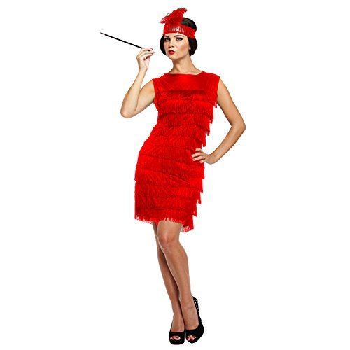 Flapper Girl With Tassels Fancy Dress Costume (Flapper Girl Attire)