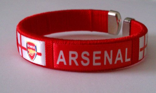 Arsenal FC Team Logo English Soccer Bracelet Wristband