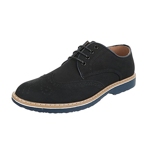 Ital-Design - Zapatos Planos con Cordones Hombre , color negro, talla 43 EU