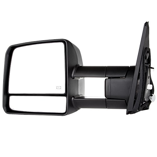 For Toyota Towing Mirrors High Performance Driver Side Automotive Exterior Mirrors for 07-16 Toyota Tundra with Turn Signal Heated and Power Control ()