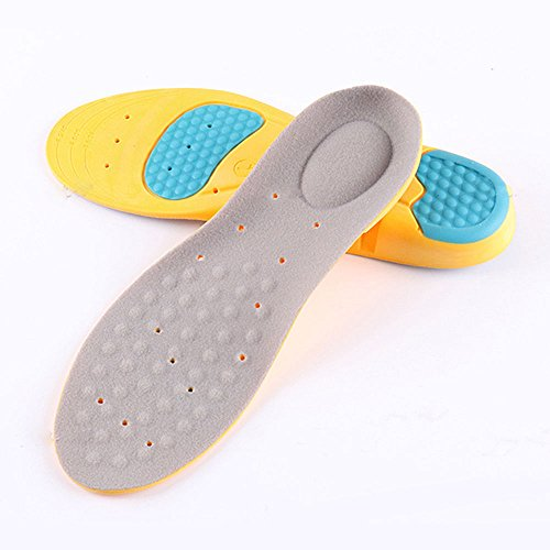 Sport Running Shoe Insoles Full Length Comfortable Foot Support Cushion Memory Foam Gel Orthotic, Replacement Shoe Insert for Men 11 US SIZE(1 Pair)