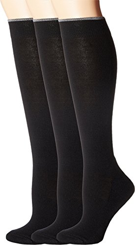 Smartwool Women's Basic Knee High 3-Pack Black Socks LG (Women's Shoe 10-12.5)