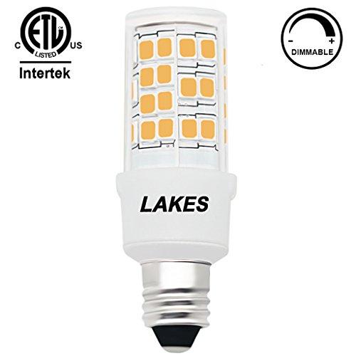 1 Light 100 Watt Bulb (ETL Listed Dimmable E11 LED Bulb, 4.5W 120V T4 JD Mini-candelabra Edison Screw(mini-can) 450 Lumens 3000K Warm White 360 Degrees Beam Angle 45W Halogen Bulb Equivalent, CRI>85, Pack of)