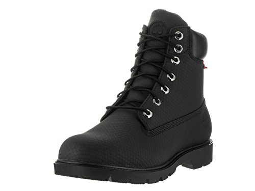 Nero Stivale Impermeabile Mens Timberland 6 Pollici In Pelle Helcor Base