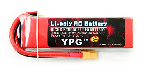 GARTT YPG 2600mAh 35C 11.1V 3S LiPo Battery with XT60 Plug For RC Airplane Trex 450 500 Helicopter Car Truck Boat Quadcopter