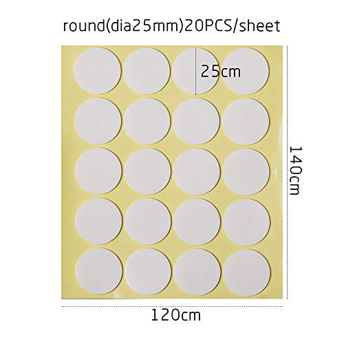 misups 1 Sheet Removable Transparent Furniture Protector Home Decor Self-Adhesive Glue Dot Wall Stickers Double Sides