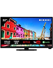NIKKEI NH3221SMART 81 cm/ 32 inch televisie (Smart TV met ingebouwde wifi, HD Ready, 1366 x 768, 3x HDMI, 1x USB, VESA 150 x 200 mm, wekfunctie, elektronische programmagids)