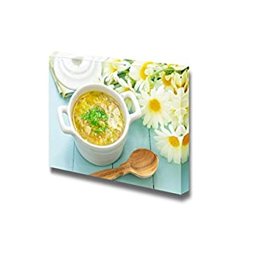 Canvas Prints Wall Art - Still Life Delicious Soup Food/Kitchen Concept | Modern Wall Decor/Home Decoration Stretched Gallery Canvas Wrap Giclee Print & Ready to Hang - 16