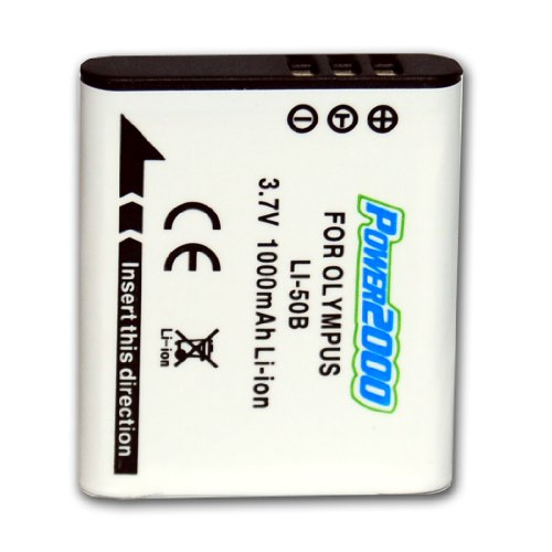 (Power2000 ACD-286 Rechargeable Battery for Olympus Li-50B, Kodak LB-050 & Pentax D-LI92)