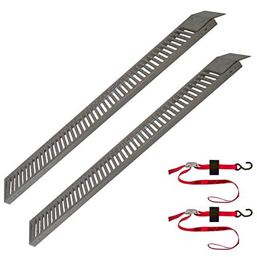 Snap-Loc Truck & Trailer Equipment Ramp 9''X72'' 2 Pack With 2 Safety Cam Straps SLATTR9722
