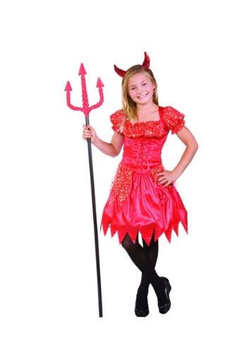 RG Costumes Glitter Devilina, Child Small/Size 4-6