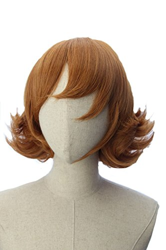 Price comparison product image Cocoa Brown Short Flapper Bob Anime Cosplay Pidge Adult Wig Inspired by Voltron