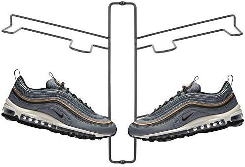 mDesign Modern Metal Shoe Organizer