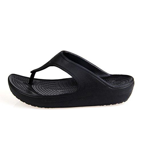 Verano usar la palabra zapatillas/Sandalias de fondo grueso del dedo del pie plano inferior C