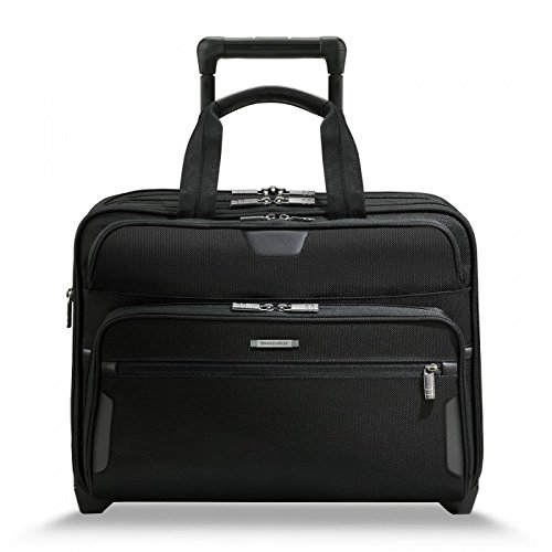 (Briggs & Riley @ Work Luggage Expandable Rolling Brief, Black, One Size)
