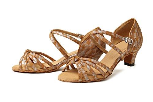8cm Eu Brown 4 Heel Donna Sala 35 Marrone Minitoo dark Da qAU606