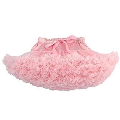 chouyatou Women's Elastic Waist Multi-Layer Tulle Tutu Short Skirt Petticoat