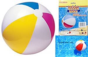 """1 BEACH BALL 20"""" Inflatable Beach , Pool Party Adult Kids Games Summer Fun by Good Old Values"""