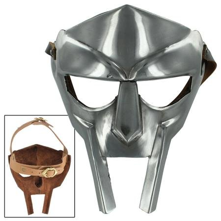 Mf Doom Mask Costume (MF Doom Rapper Madvillain Gladiator Face Mask)