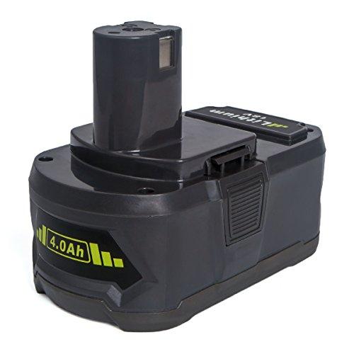 Ryobi P108 Ersatzakku FLAGPOWER Werkzeug Batterie für Ryobi ONE+ P107 P122 P104 P105 P102 P103 18V 4000mAh Li-ion Akku mit LED Anzeige