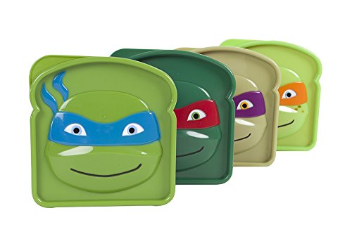 Evriholder Nickelodeon TMNT Sandwich Sav'R Lunch Box, Teenage
