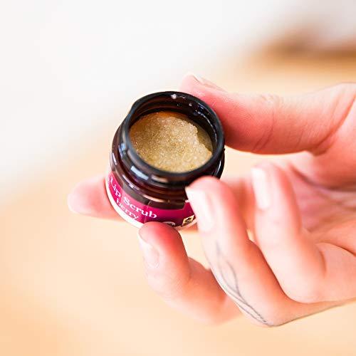 Organic Lip Scrub Gift Set - Vanilla, Mint & Berry Sugar Scrub, Lip Scrubs Exfoliator & Moisturizer, Lip Exfoliator, Lip Care Exfoliating Scrub, Lip Moisturizer, Chapped Lips Treatment (2 pack) by Beauty by Earth (Image #8)