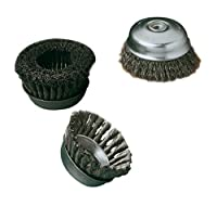 United Abrasives- SAIT 09552 5-Inch by .020-Inch Crimp Wire Large Cup-Brush, 5/8-11 Arbor, Carbon Steel